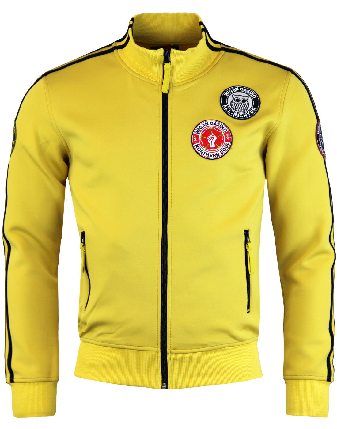 WIGAN CASINO Northern Soul Patch Track Top GOLD