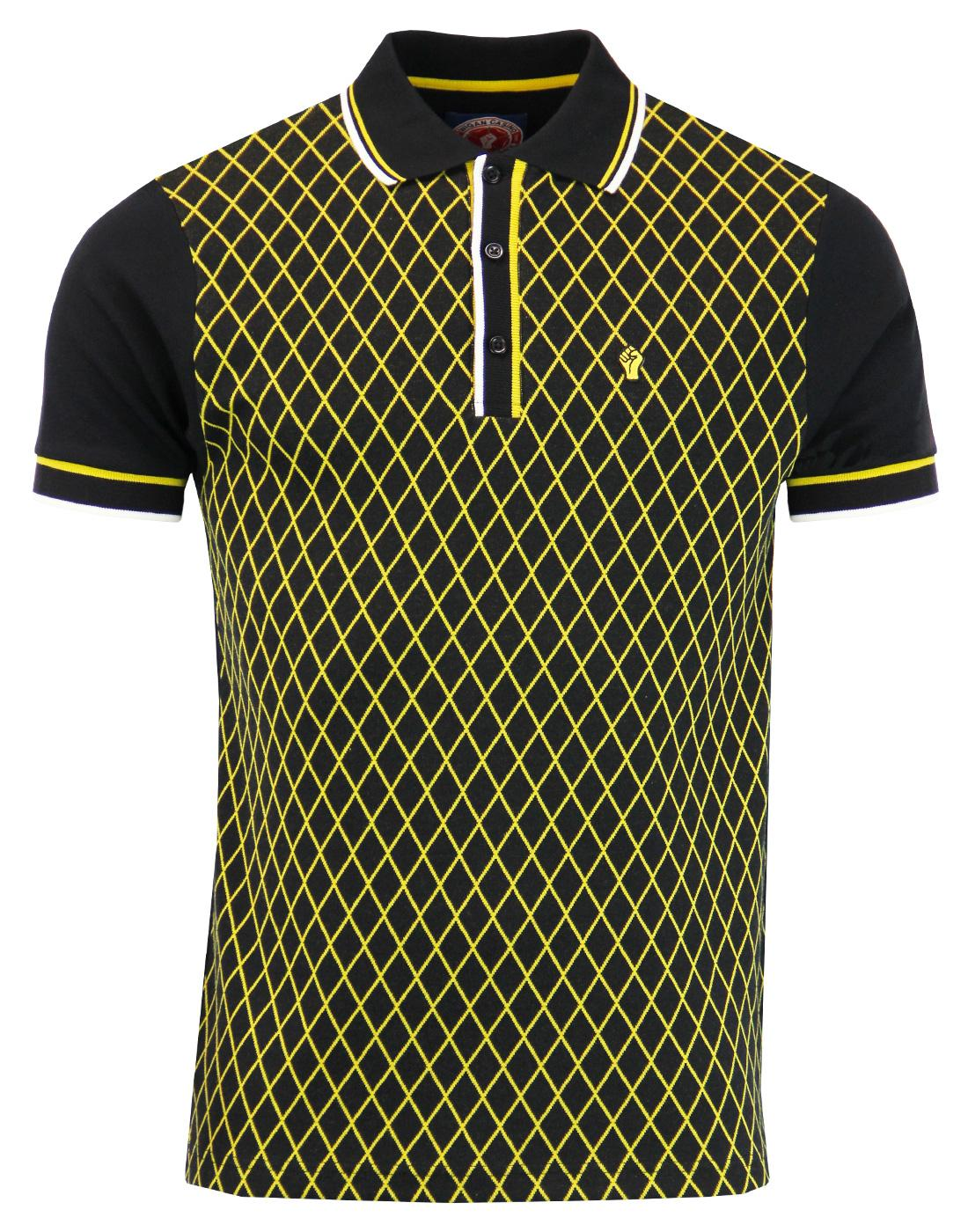 WIGAN CASINO Northern Soul Mod Diamond Front Polo