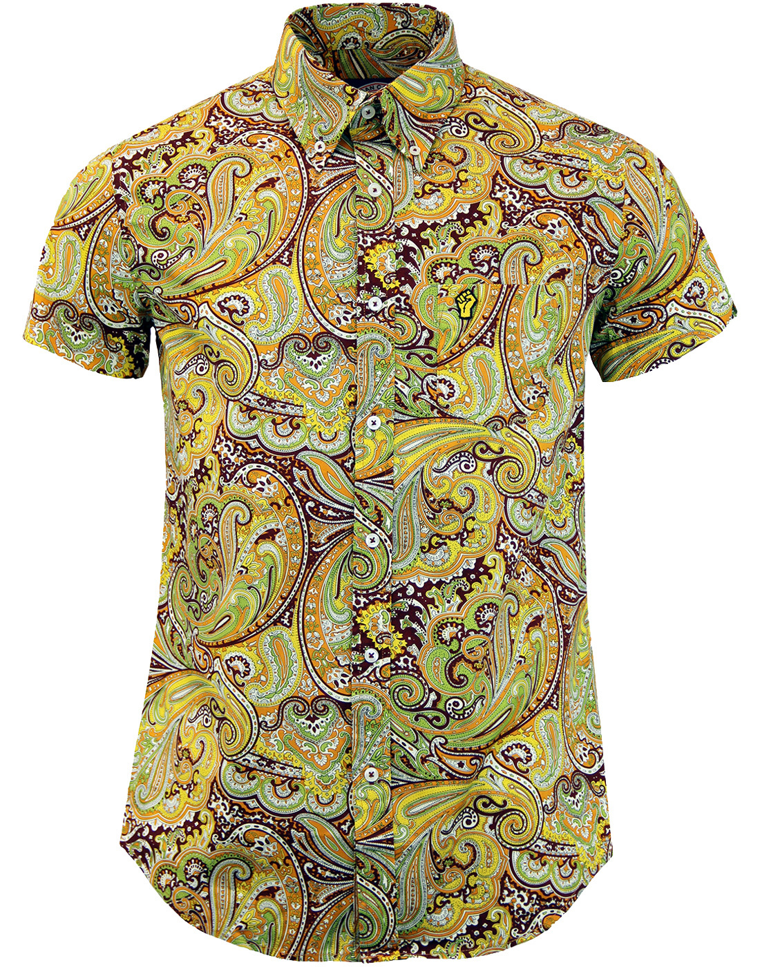 WIGAN CASINO Retro Northern Soul Paisley  Shirt