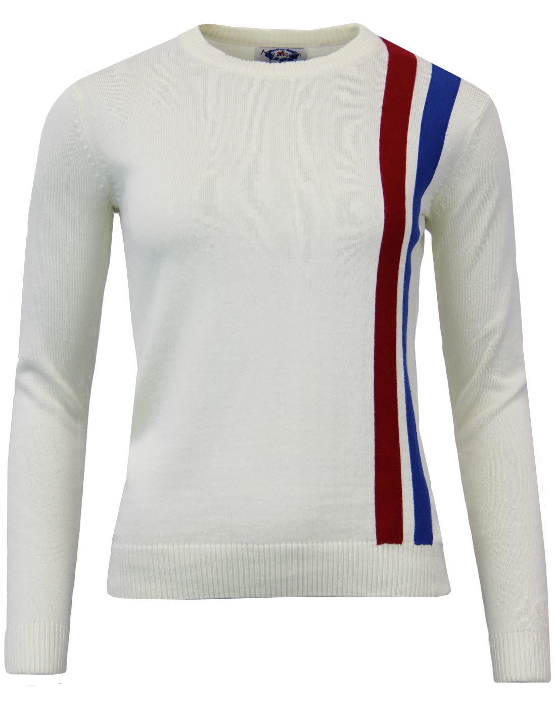 Madcap England 1960s Mod Womens Racing Jumper (WW)