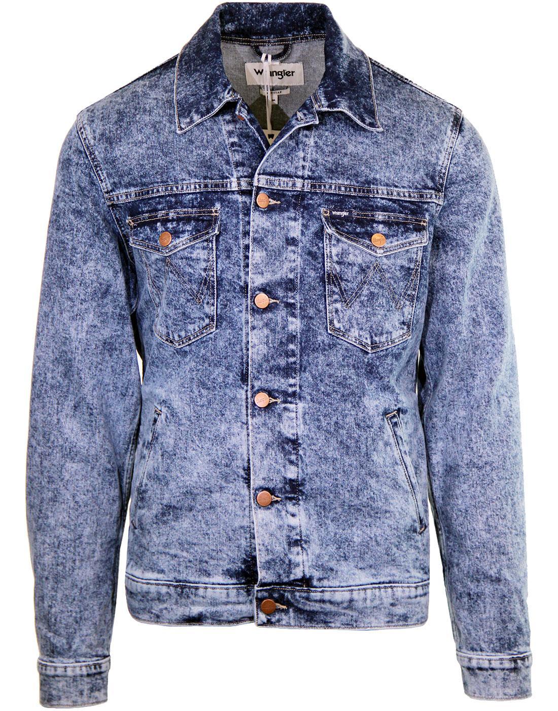 WRANGLER Marble Dye Seventies Retro Denim Jacket