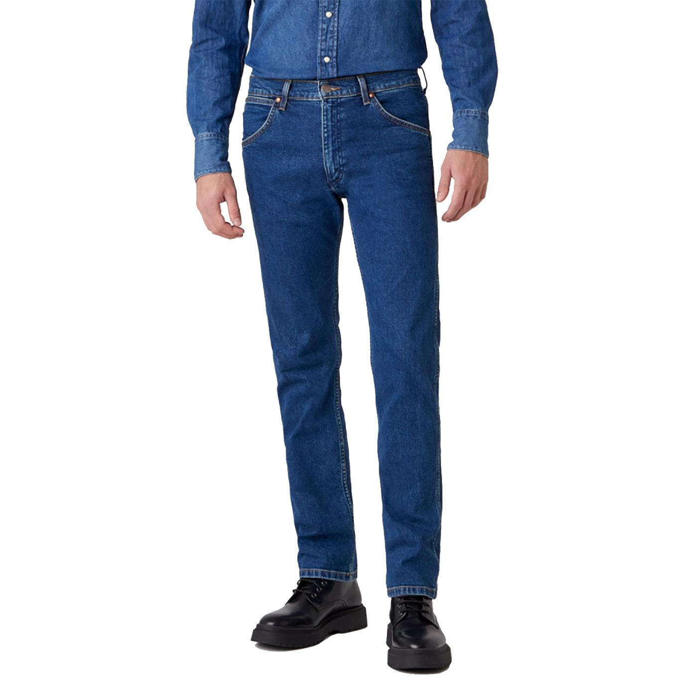 11MWZ WRANGLER Slim Western Jeans - 6 Month Wash