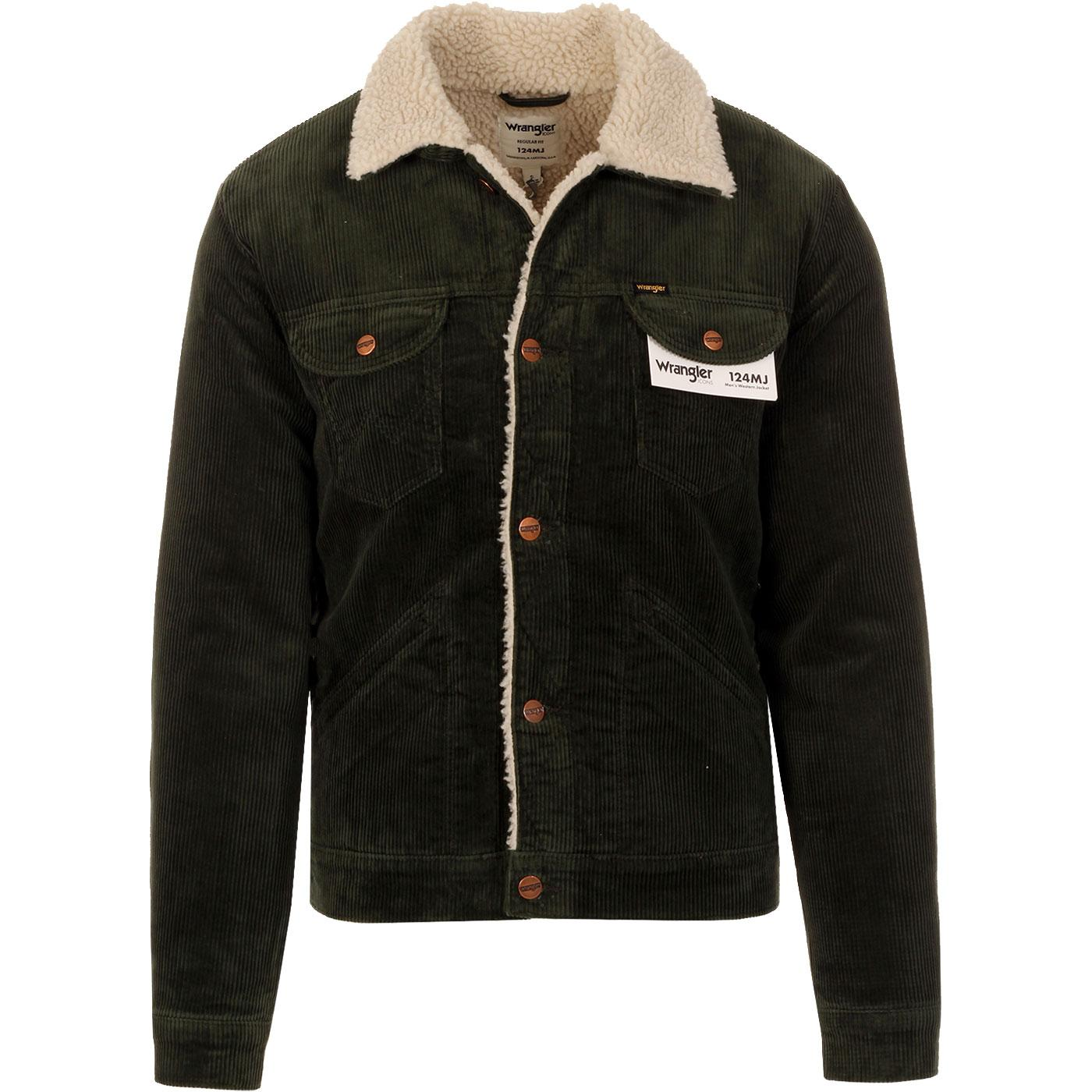 WRANGLER Icons 124MJ Retro Cord Sherpa Jacket