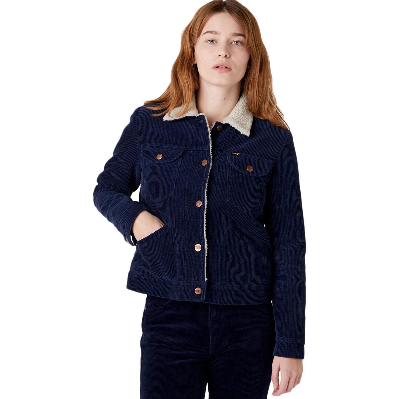 WRANGLER 124WJ Women's Ink Cord Sherpa Jacket