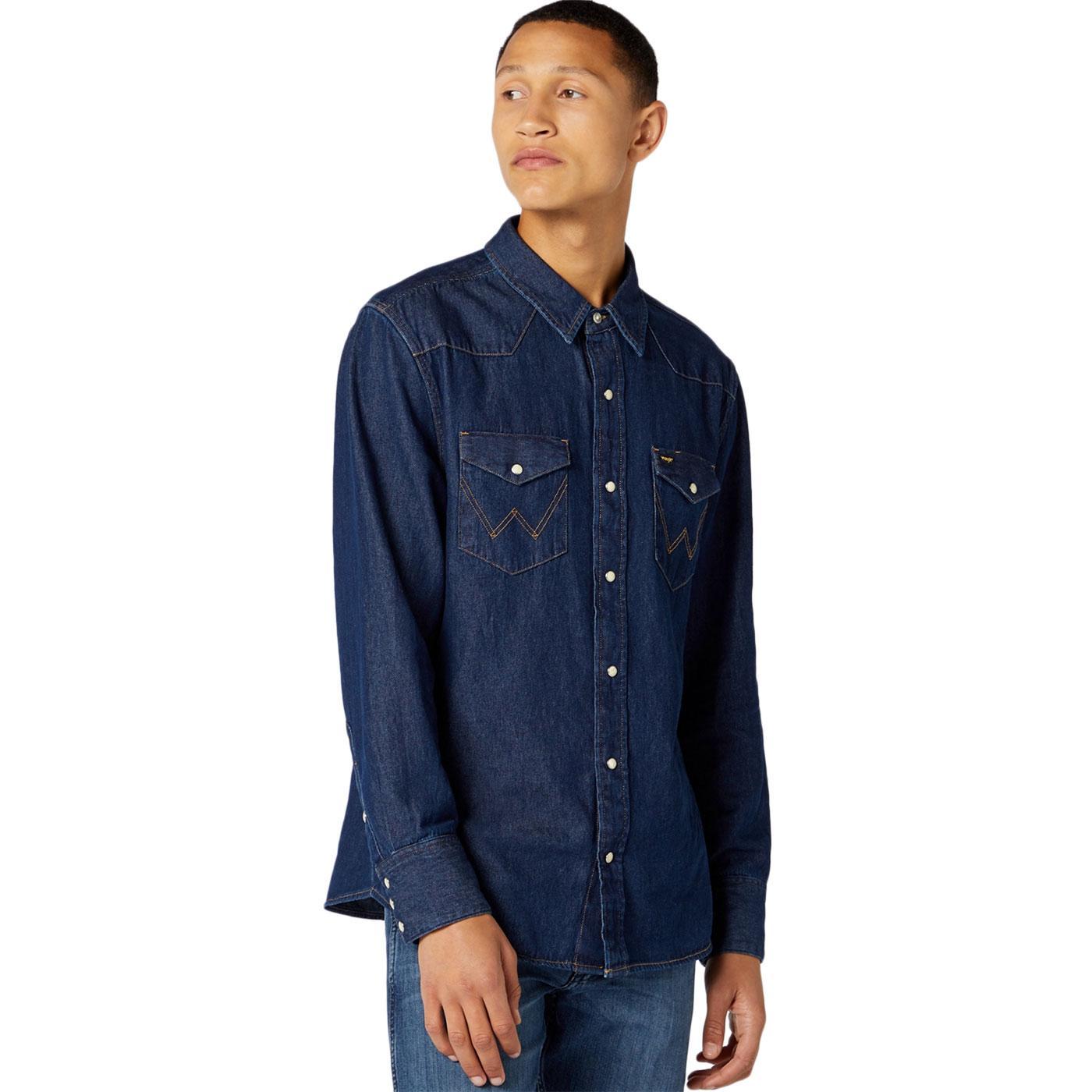 WRANGLER 27MW Icons Mens Western Shirt (New Rinse)