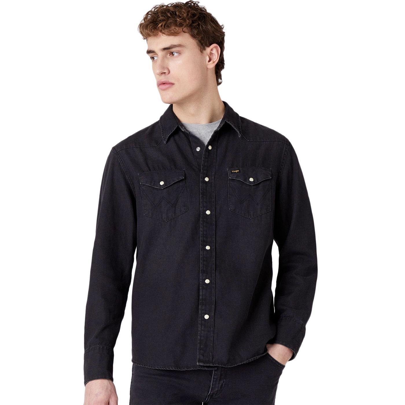 WRANGLER 27MW Icons Mod Western Shirt (Black Wash)