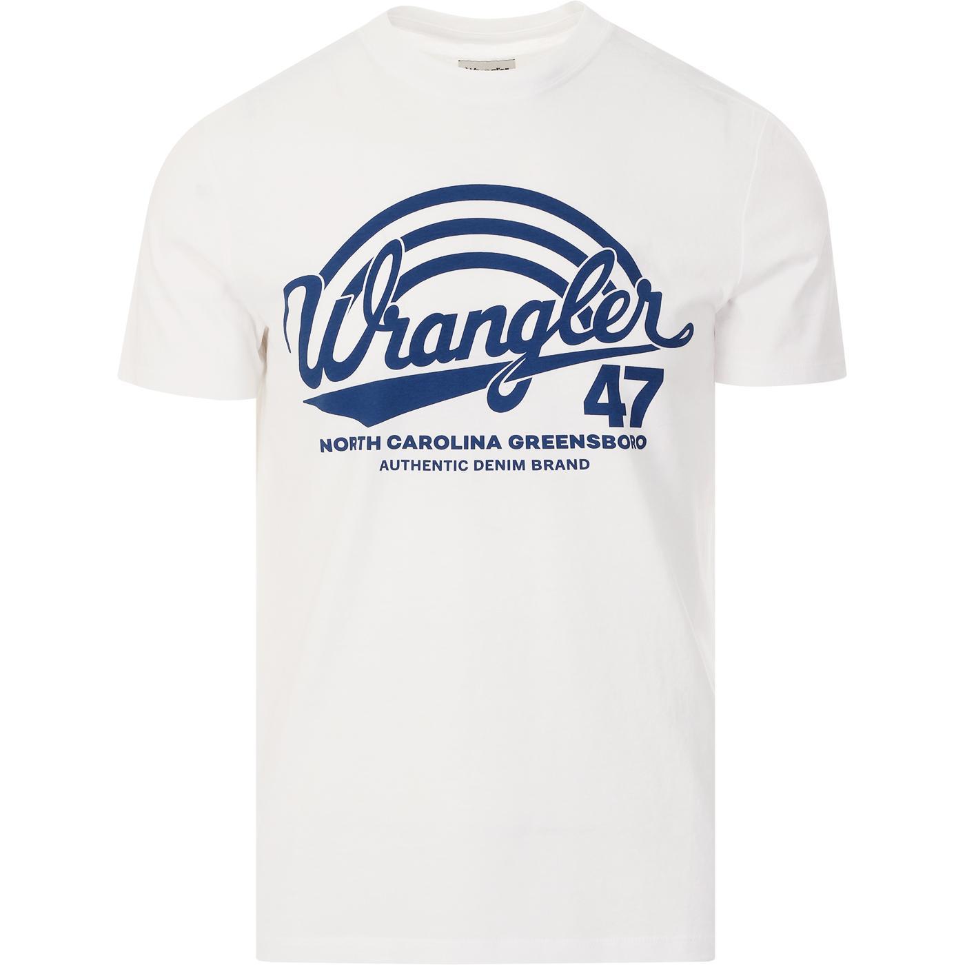 WRANGLER Americana Men's Retro 70s Tee (White)