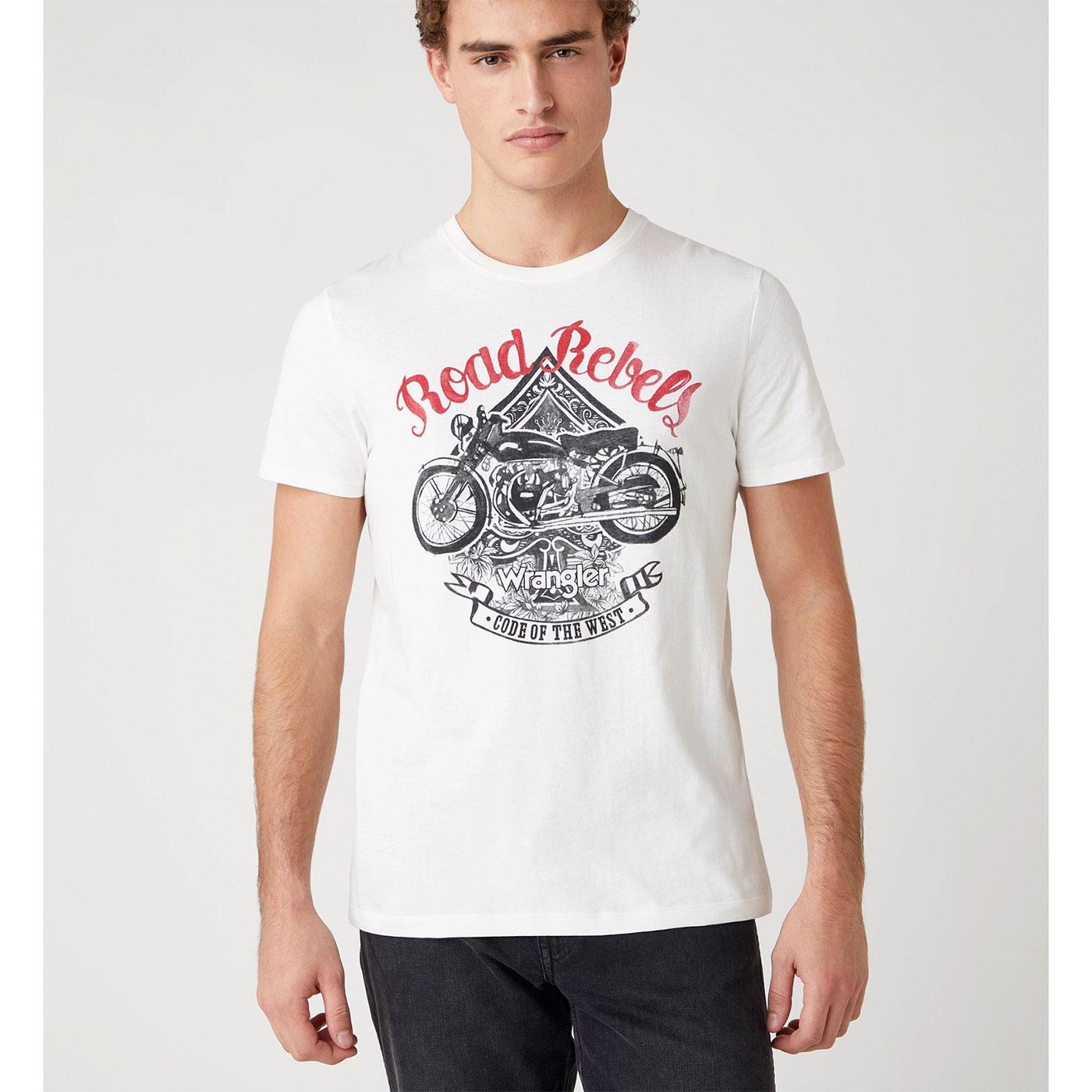 WRANGLER Western Retro Road Rebels Biker Tee OW