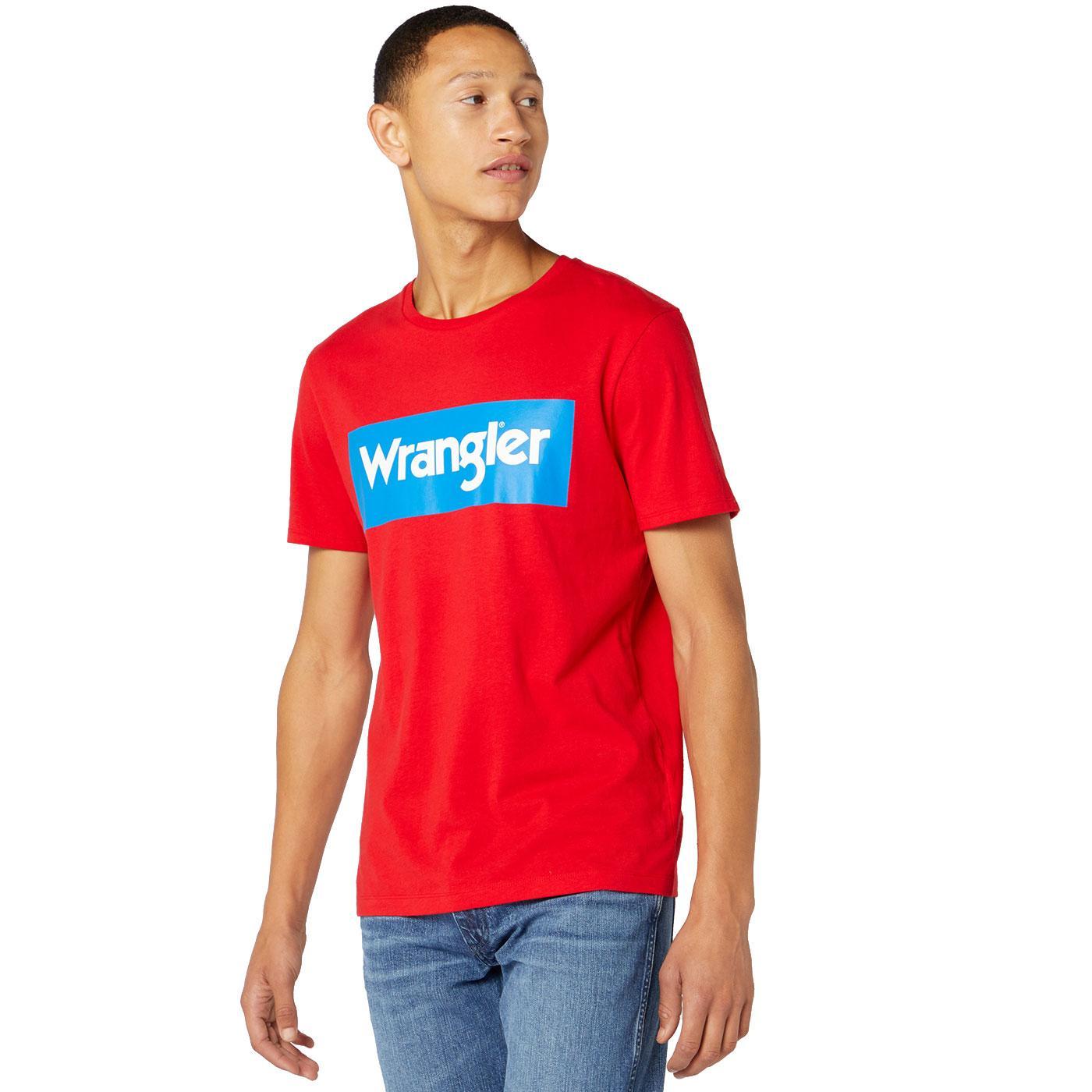 WRANGLER Mens Retro 70's Kabel Logo T-shirt FR