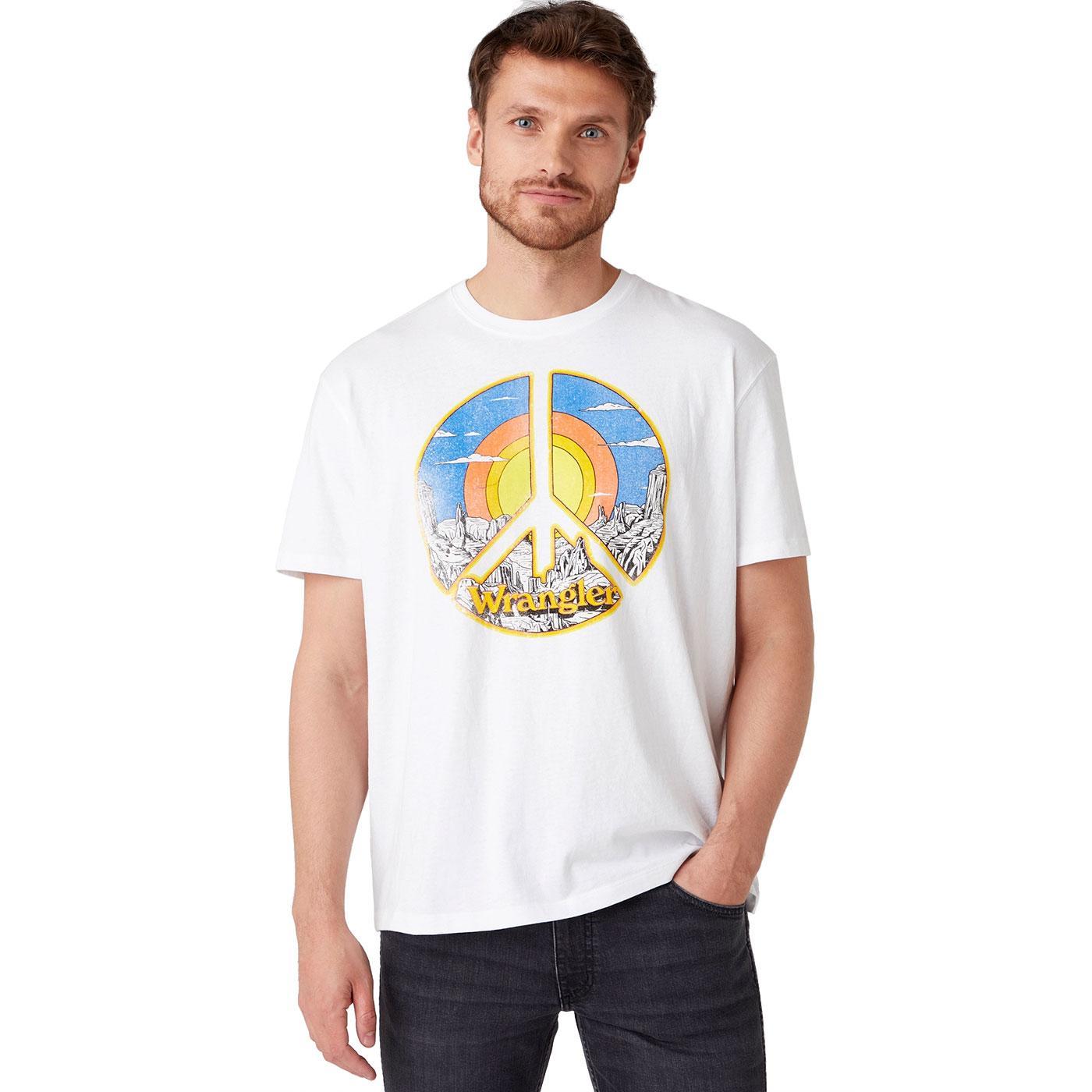 WRANGLER Mens Retro Desert Peace Print T-Shirt