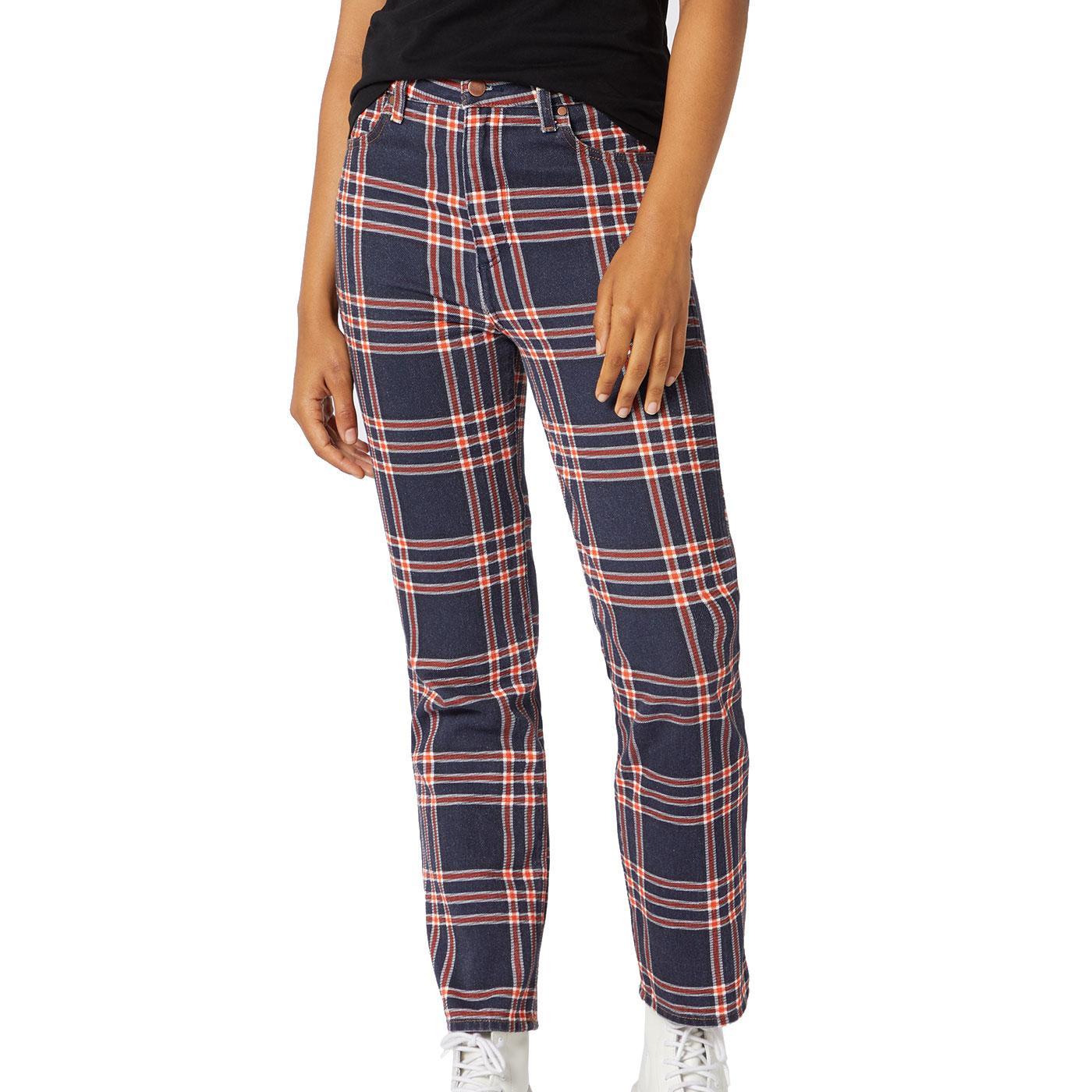 WRANGLER Women's Retro Check Indigo Denim Jeans