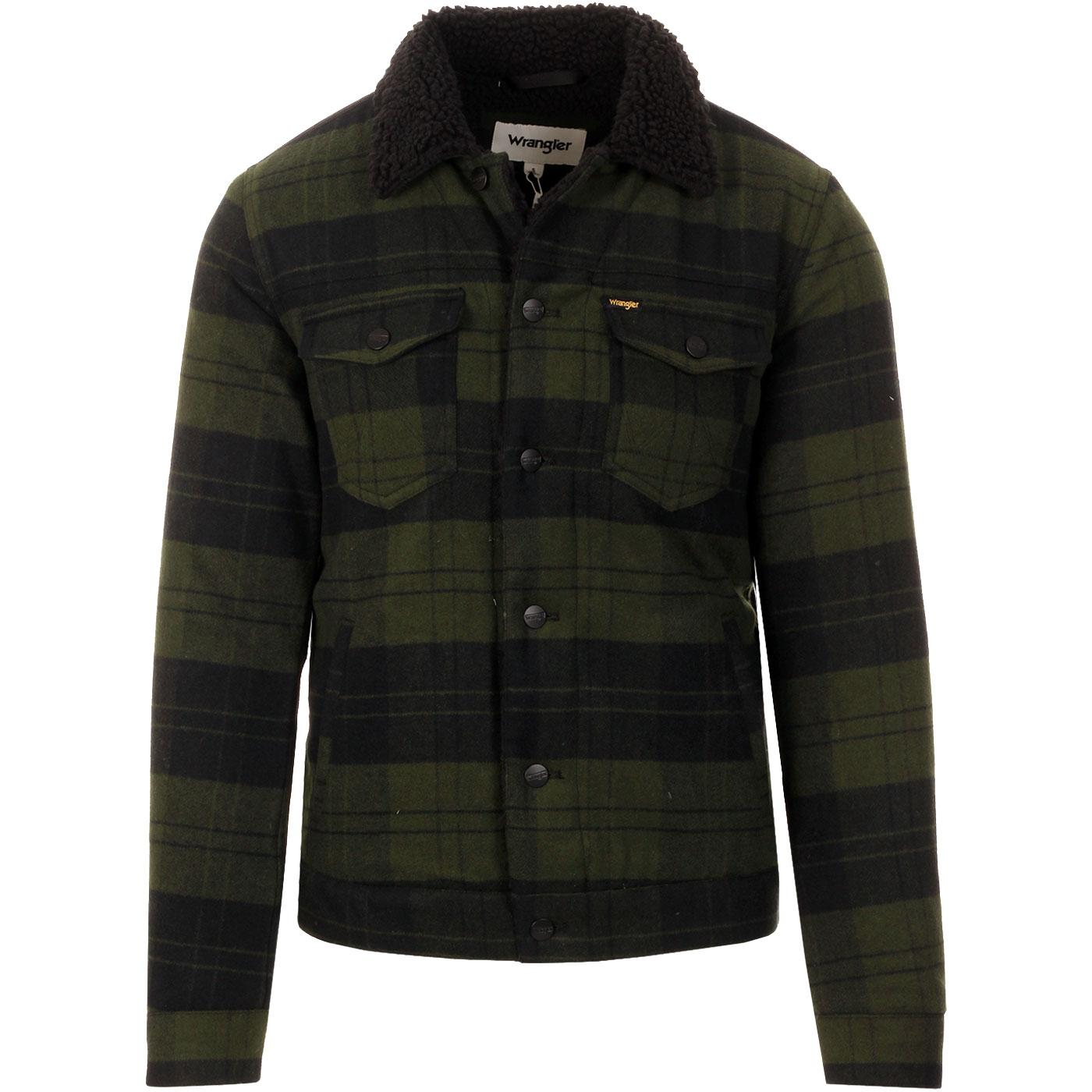The Trucker WRANGLER Men's Check Sherpa Jacket RG