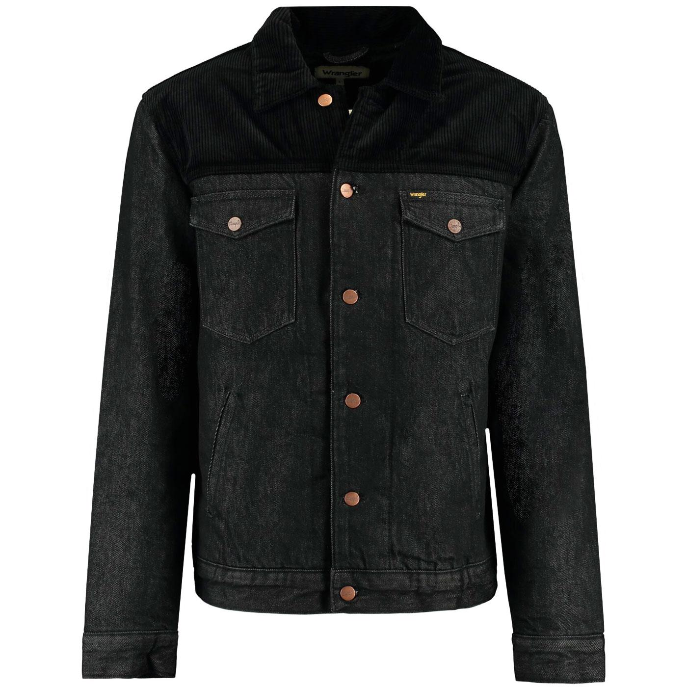 WRANGLER Retro Denim Sherpa Jacket - Black