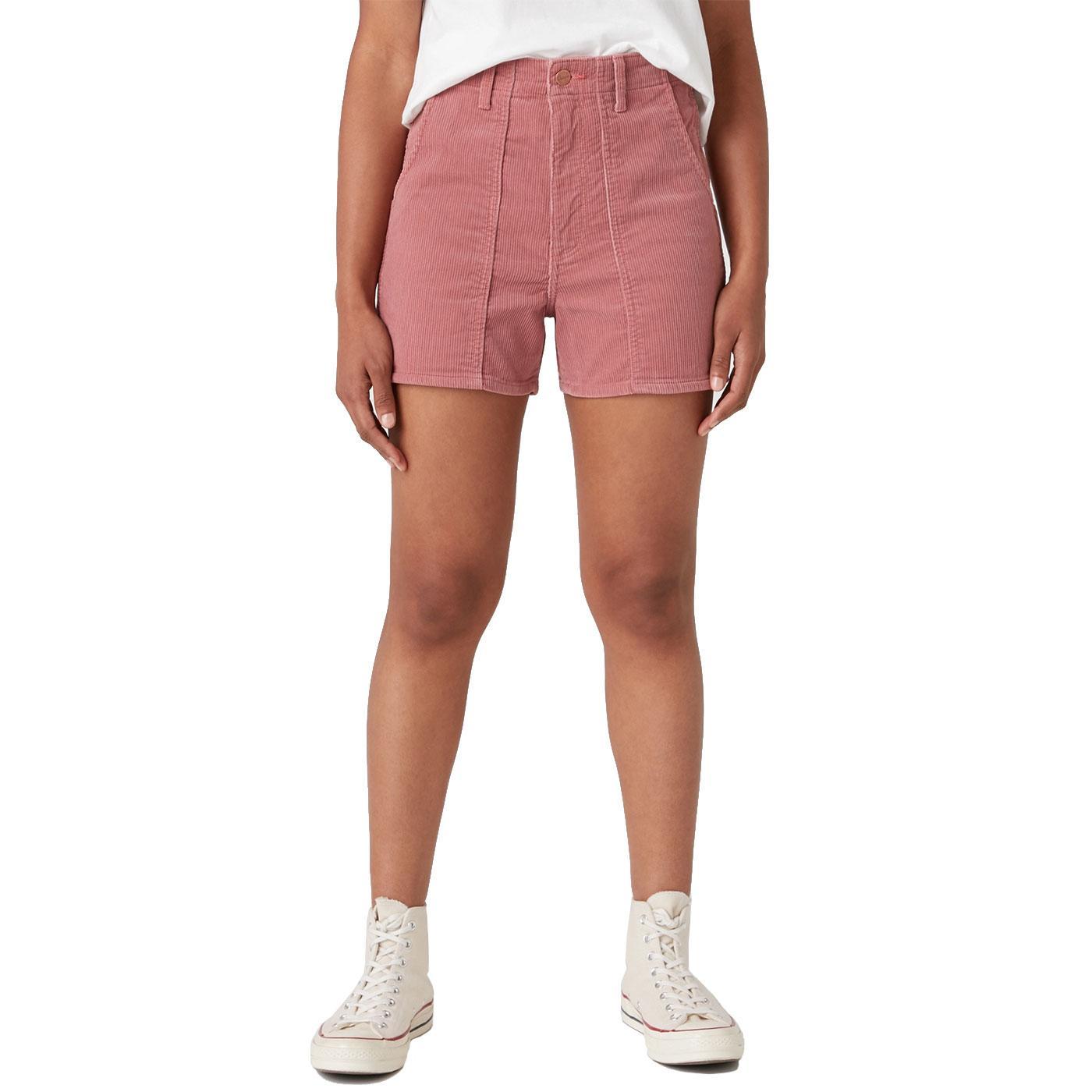 WRANGLER Women's Cord Mom Shorts DUSTY PINK