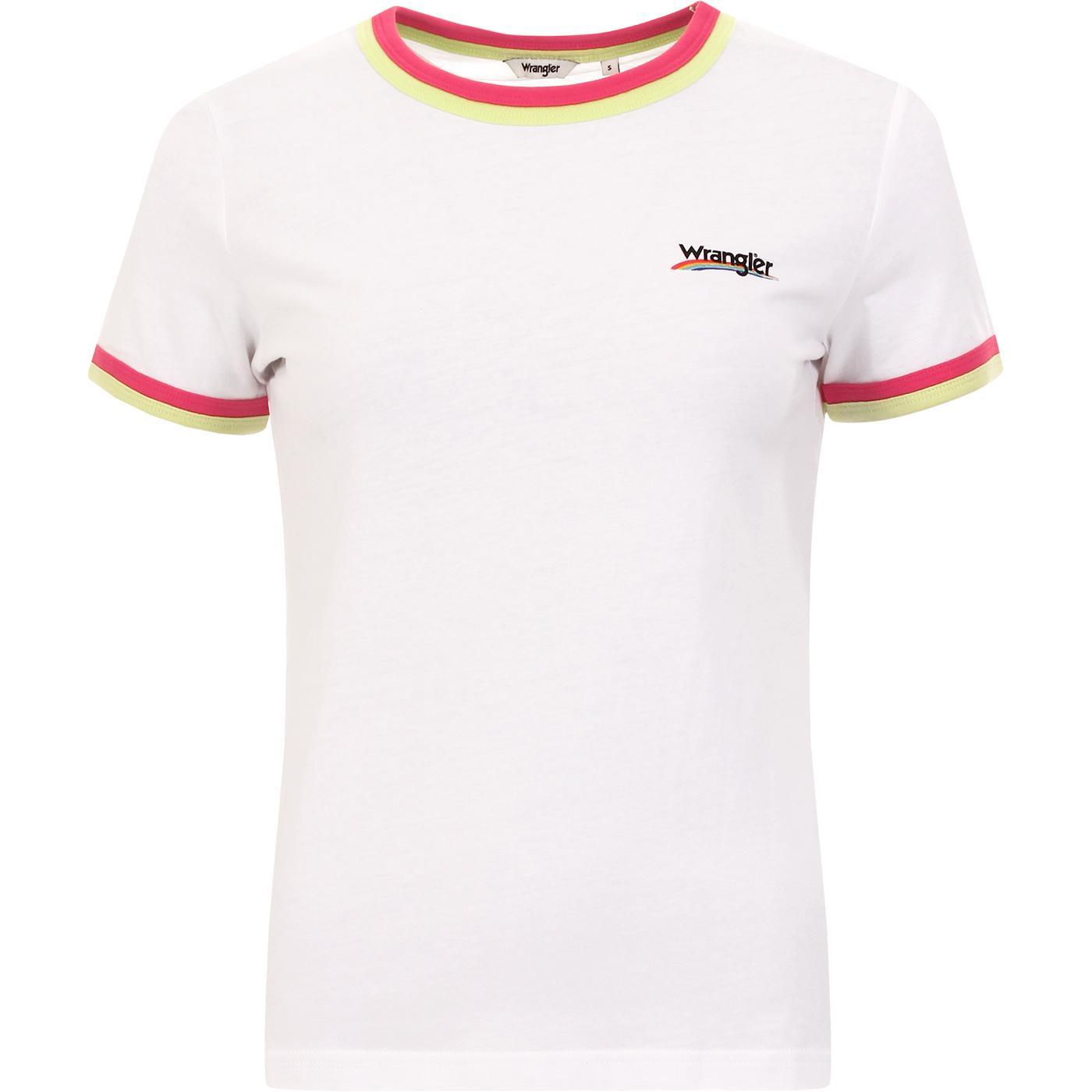 Double Ringer WRANGLER Retro Logo Tee WHITE