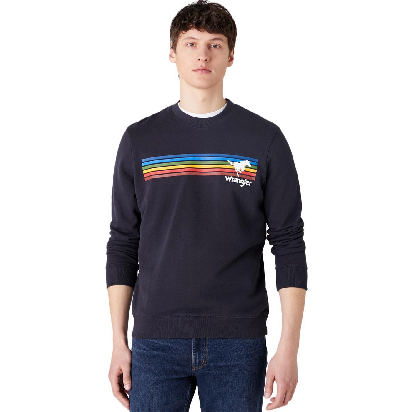 Explorer WRANGLER Retro Rainbow Stripe Sweatshirt