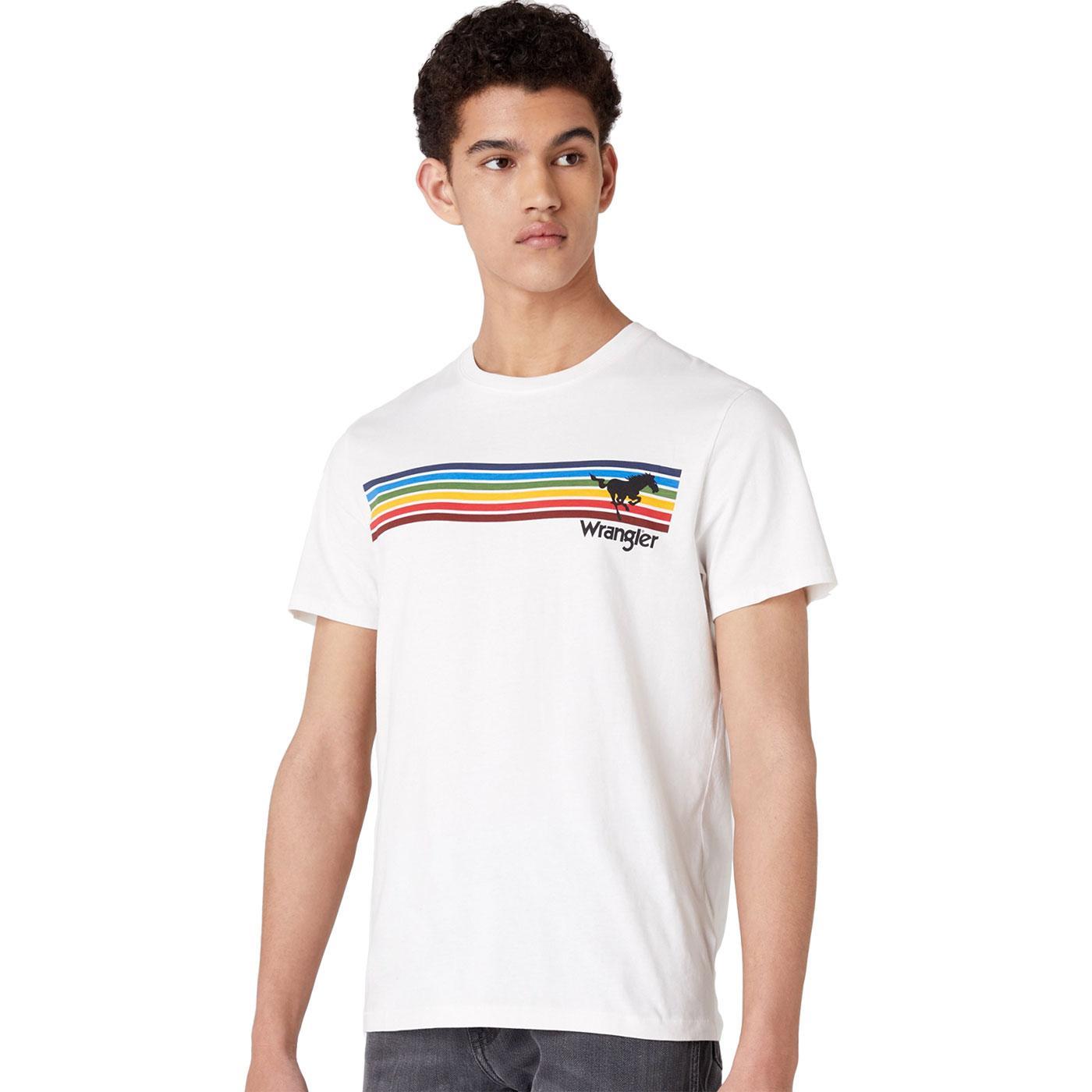 Explorer WRANGLER Retro 70s Rainbow Stripe Tee OW