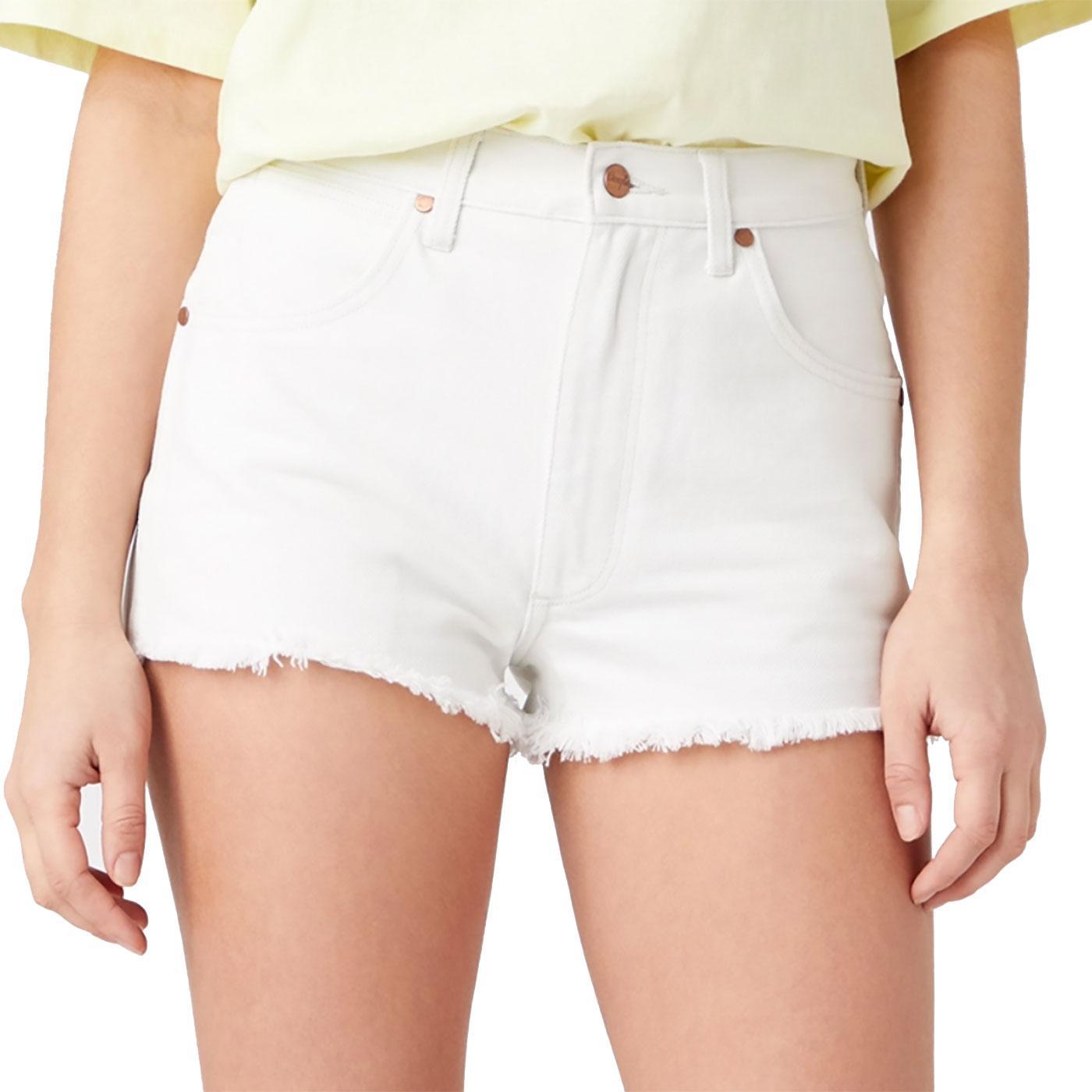 Festival WRANGLER Womens Denim Shorts - White Sand
