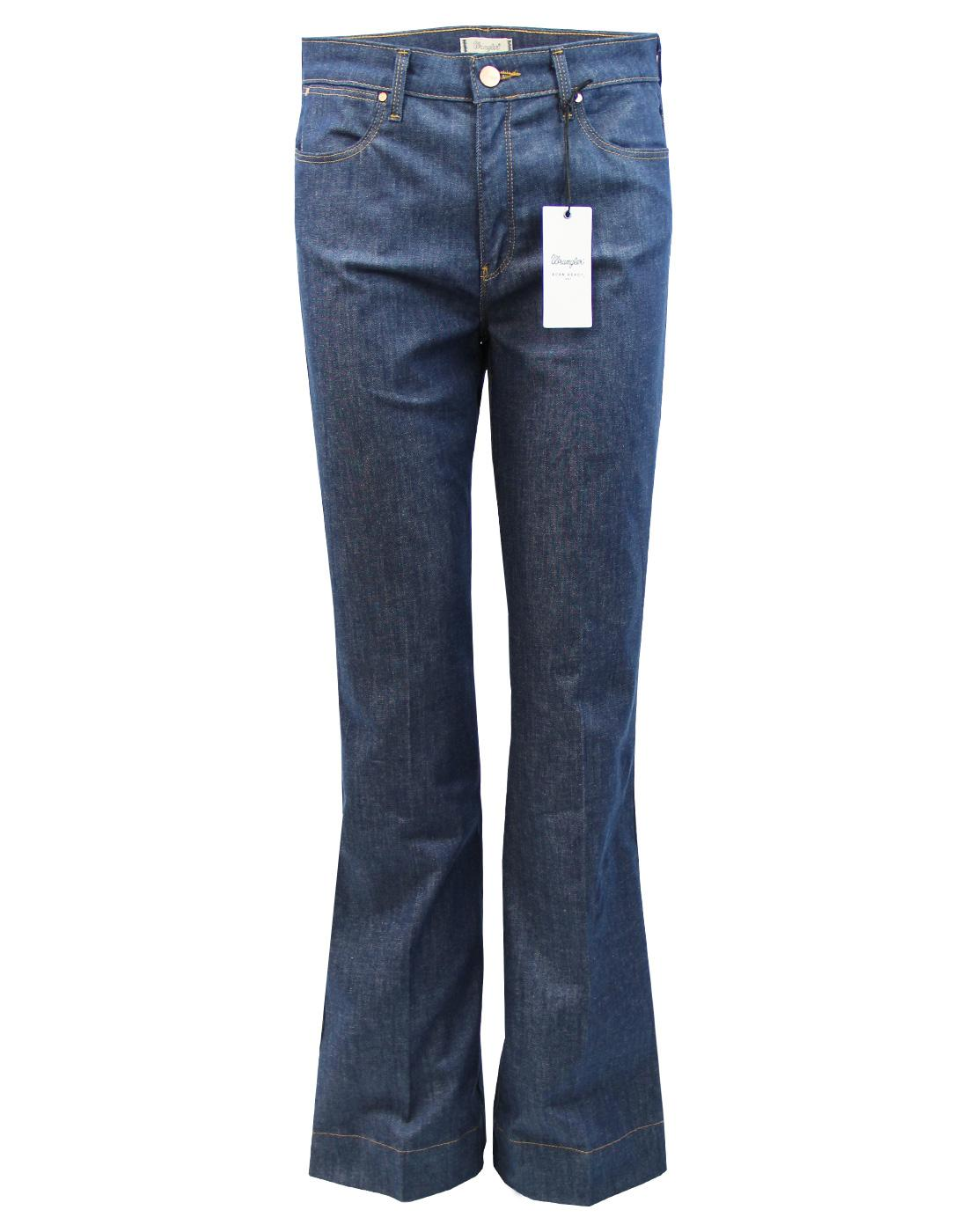 WRANGLER Retro 70s Indie Stretch Denim Flares (LB)