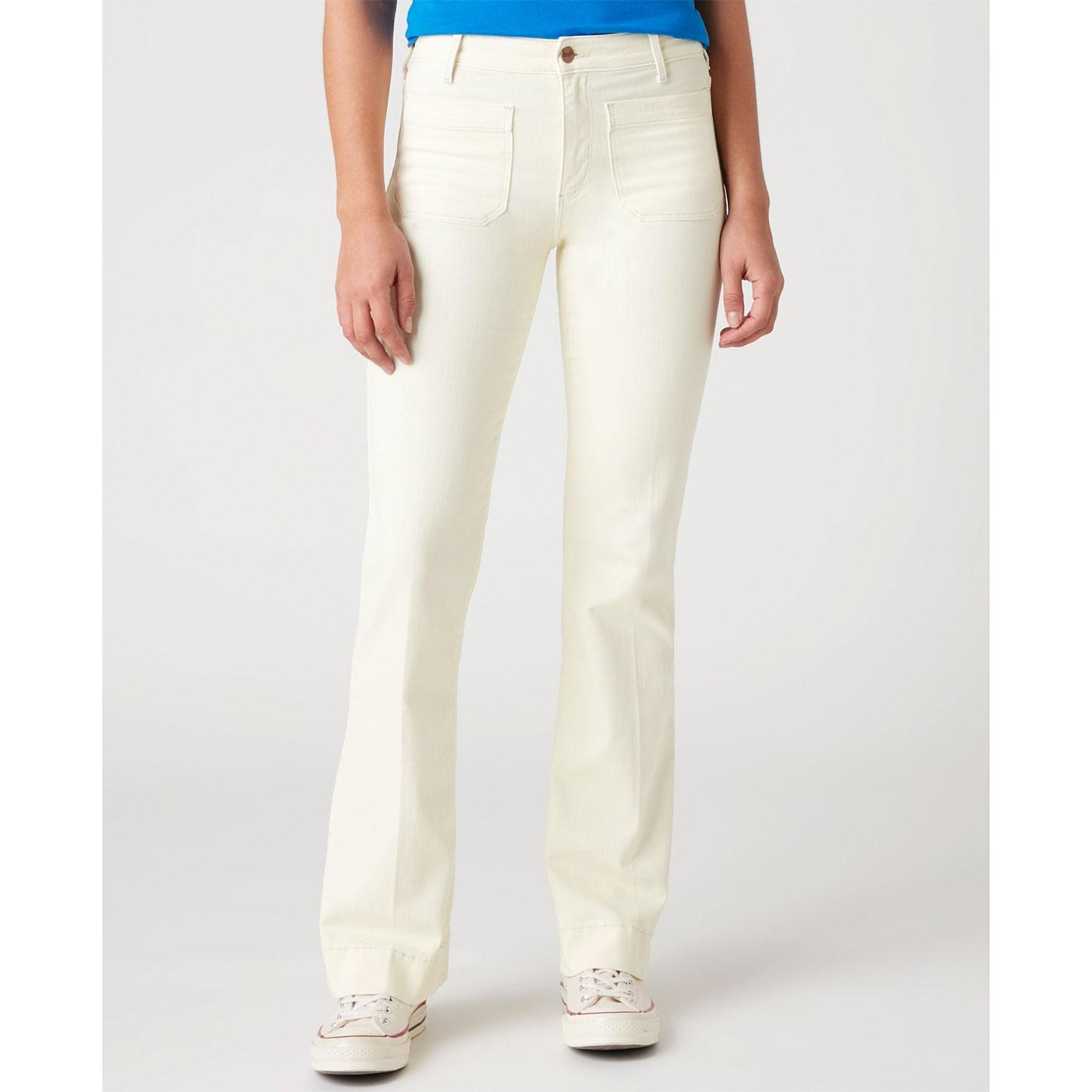 WRANGLER Womens Retro 70's High Waist Flared Jeans