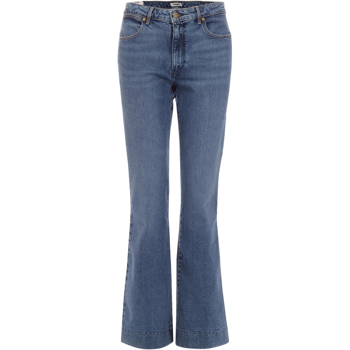 WRANGLER Flare Women's Retro 70s Flared Jeans BLUE