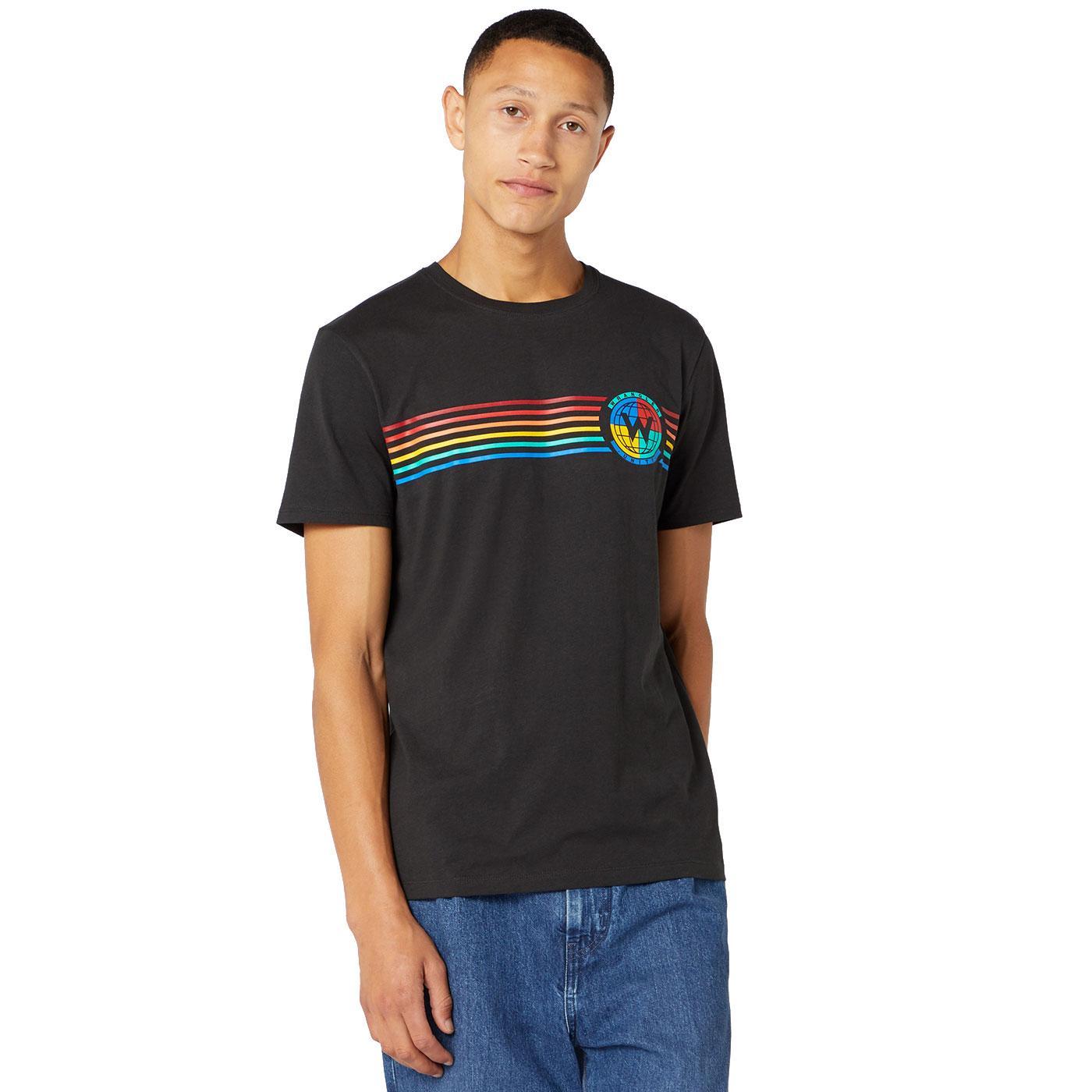 WRANGLER Men's Retro 70's Globe Graphic T-Shirt