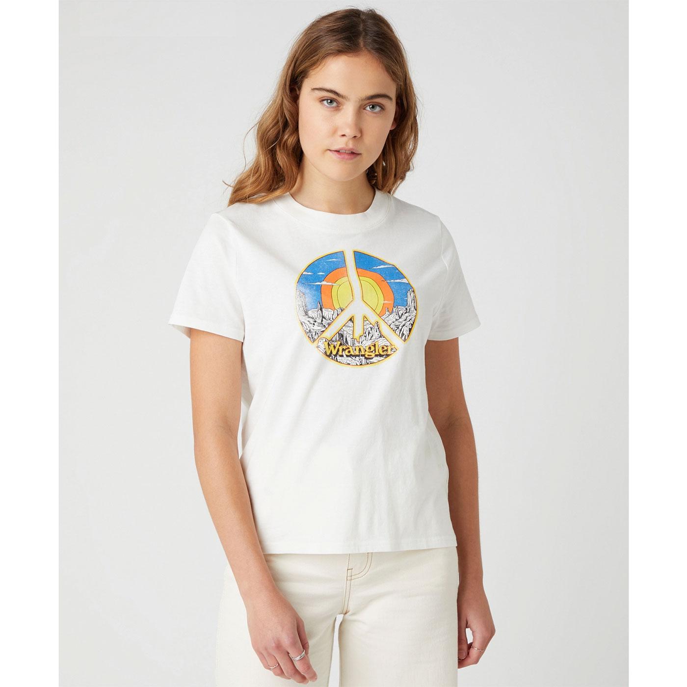 WRANGLER Womens Retro Desert Peace Print T-Shirt