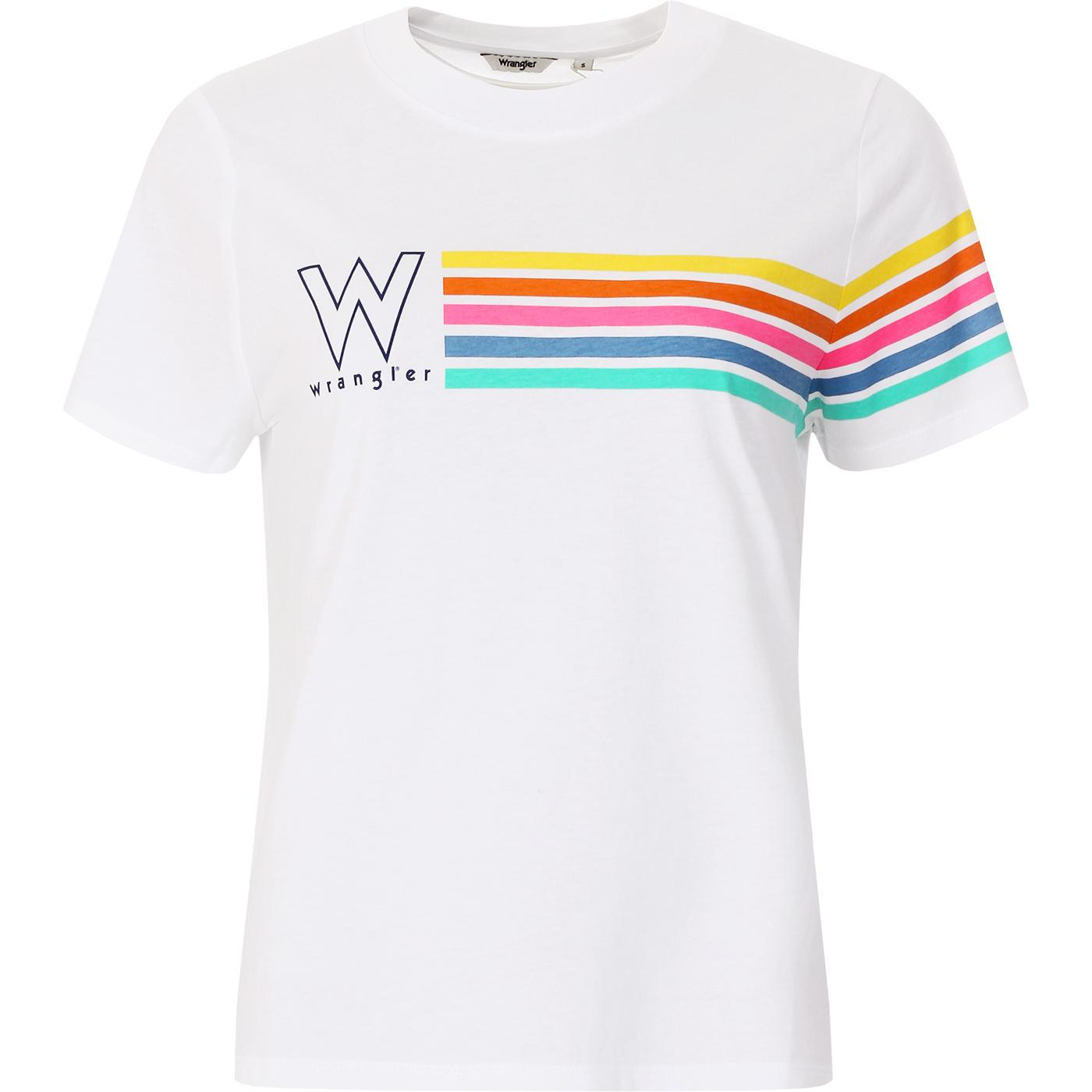 WRANGLER Women's High Rib Retro 70s Stripe Tee (W)