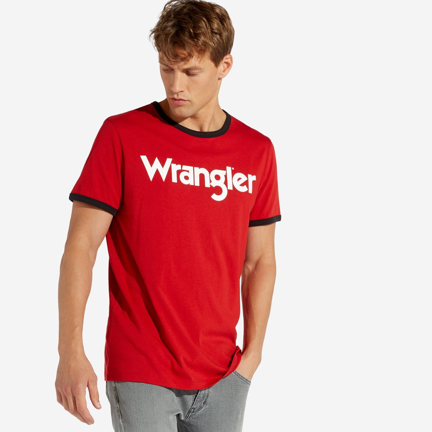 Kabel WRANGLER Retro Men's Crew Ringer Logo Tee S