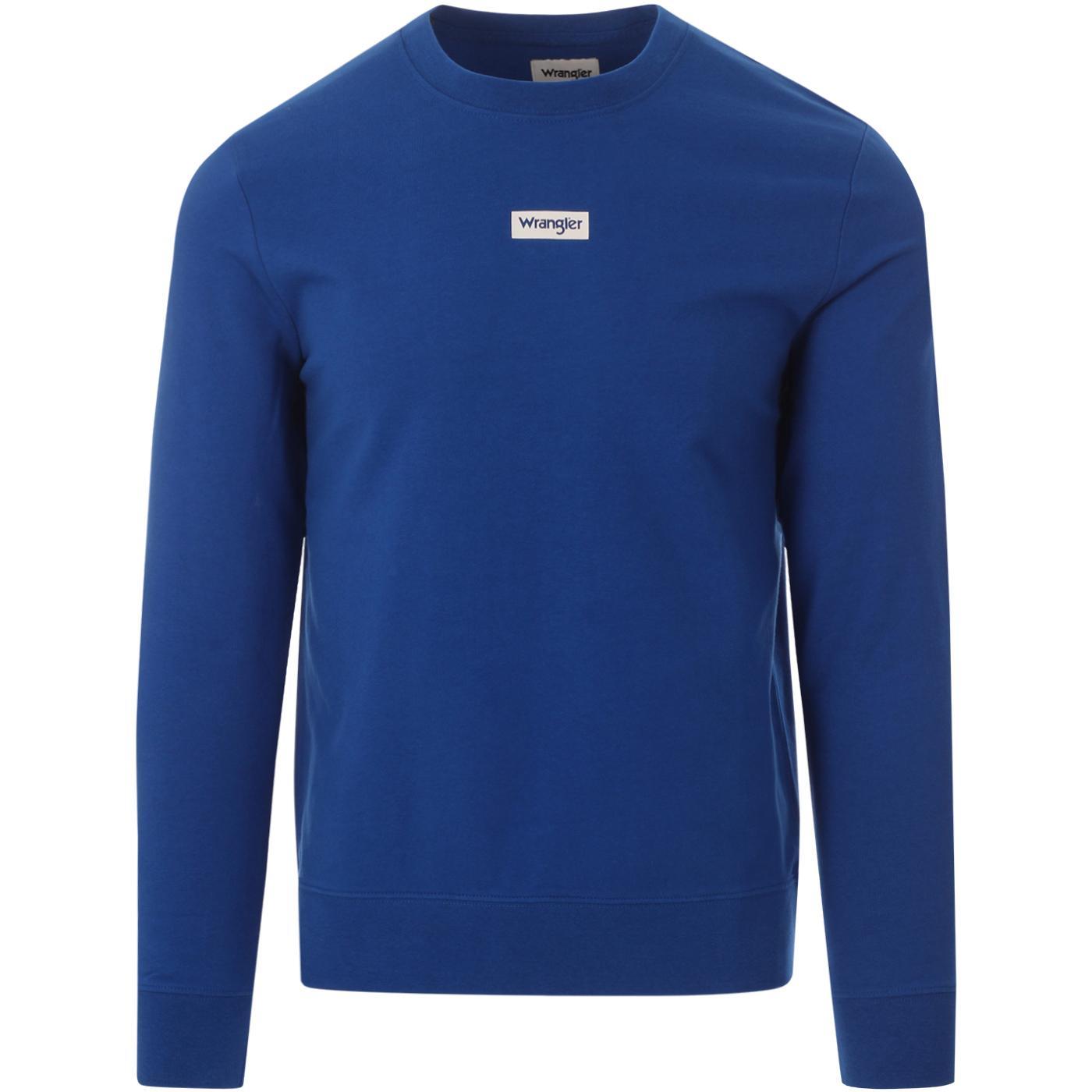 WRANGLER Men's Retro Logo Crew Sweatshirt (Blue)