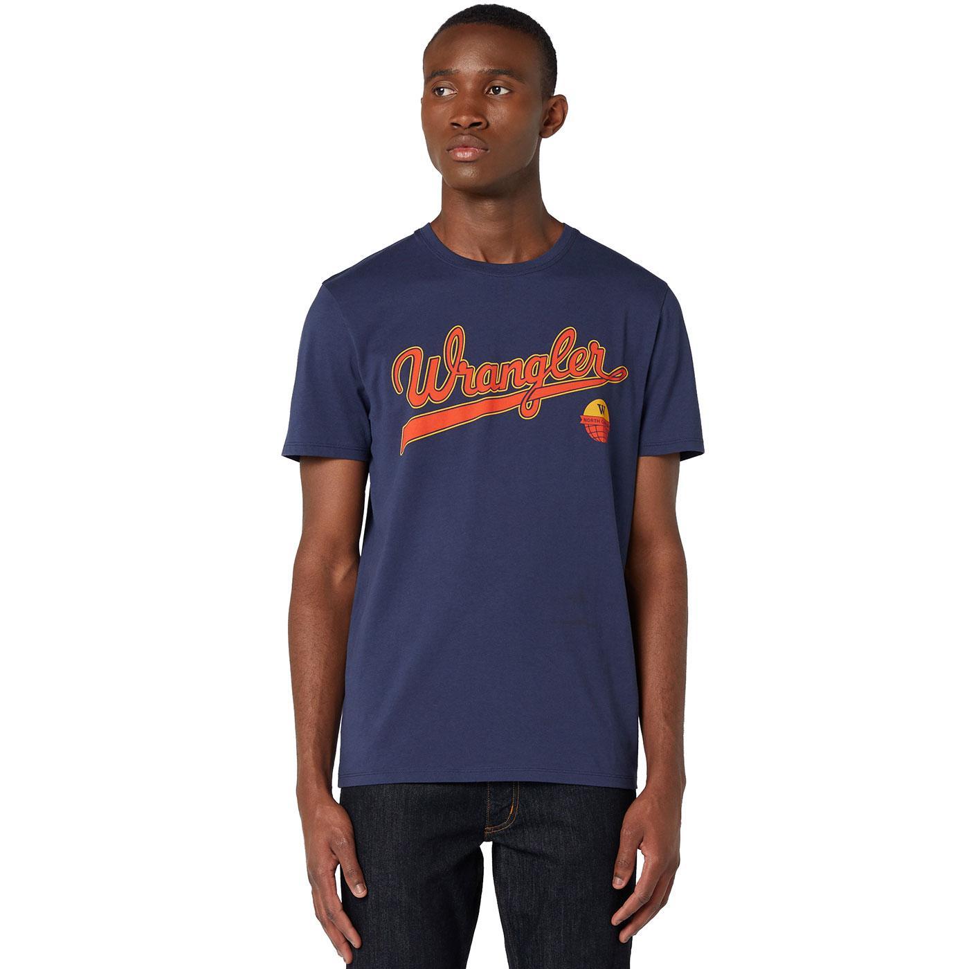 WRANGLER Men's Retro Baseball Style Logo Tee