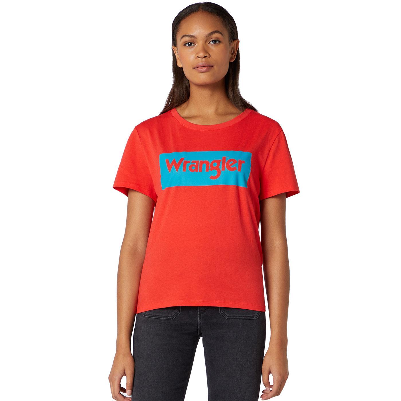 WRANGLER Women's Bold Retro Logo T-Shirt RED