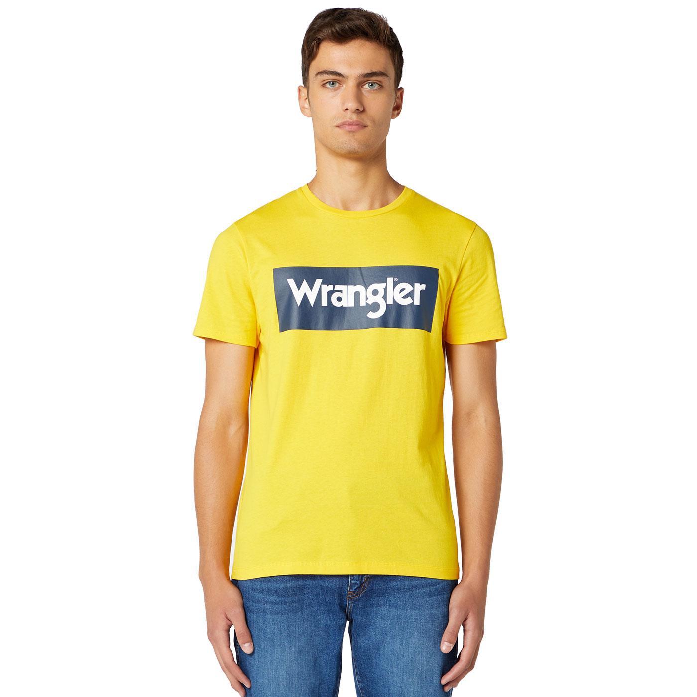 WRANGLER Mens Retro 70's Kabel Logo T-shirt LC