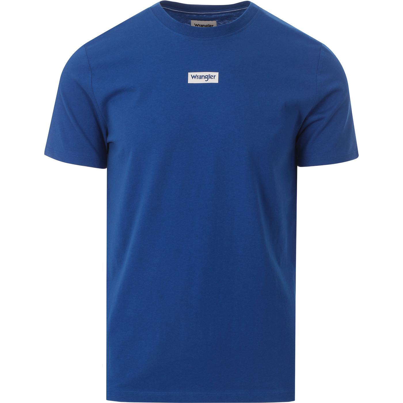 WRANGLER Men's Retro Logo Crew Neck T-shirt (Blue)
