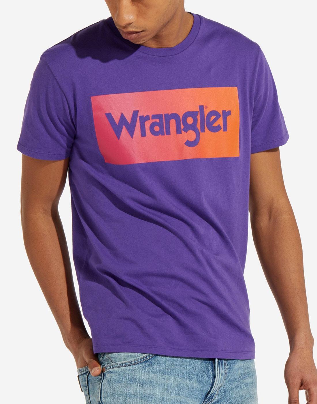 WRANGLER Men's Retro 70s Tropical Logo T-shirt