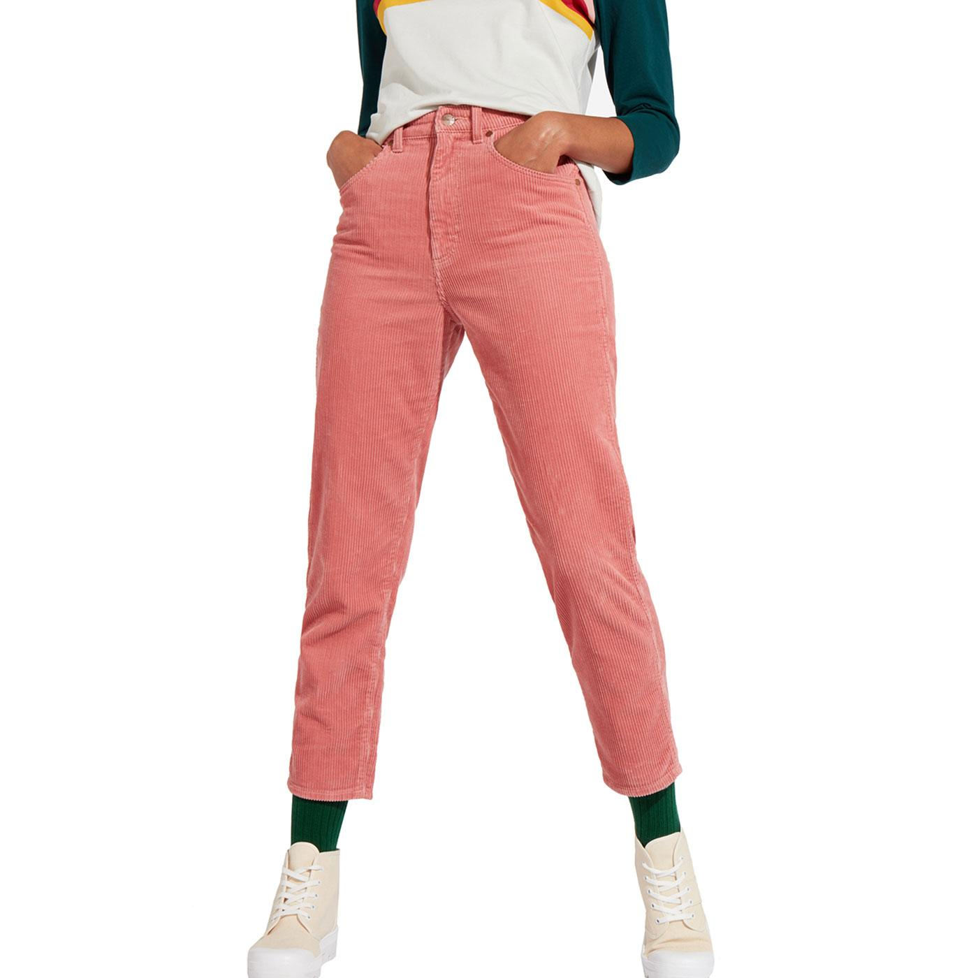 WRANGLER Retro High Waist Corduroy Mom Jeans A