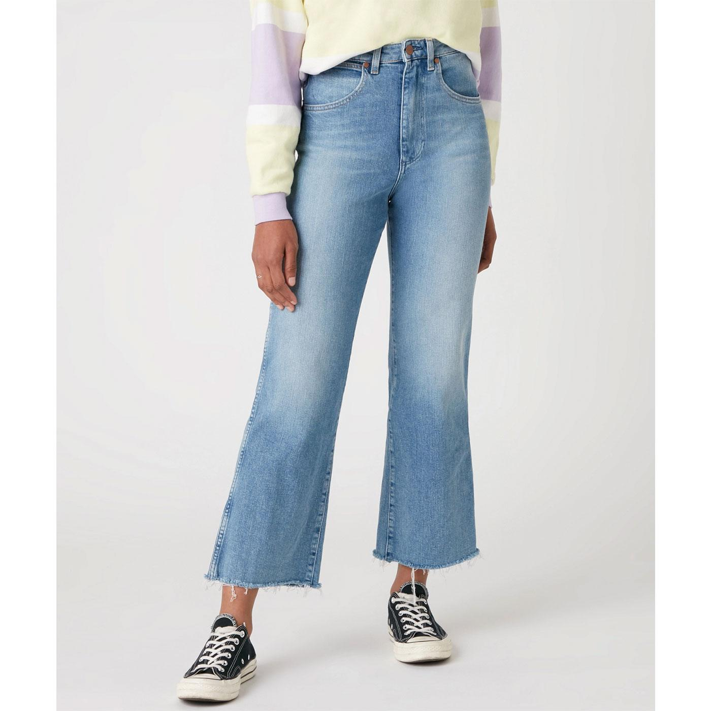 WRANGLER Womens Mom Kick Flared Jeans - SUNKISS