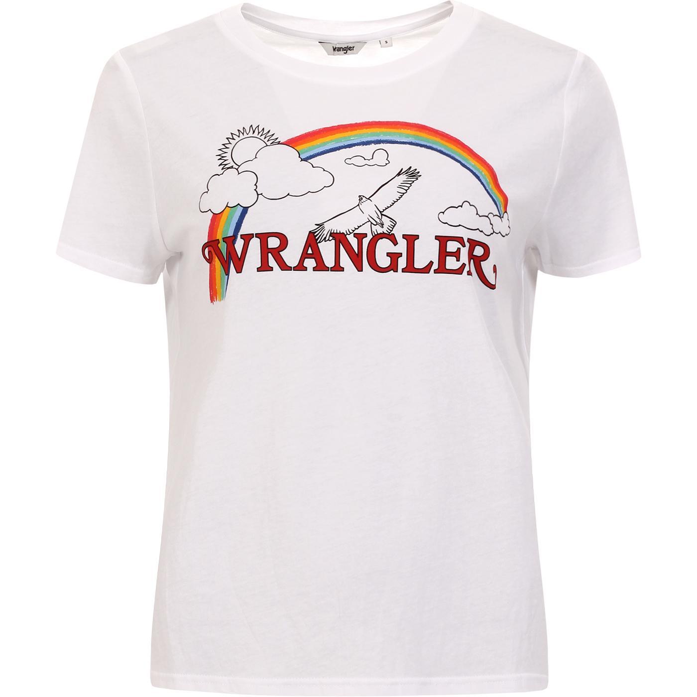 Rainbow Regular WRANGLER Graphics Tee TRUE WHITE