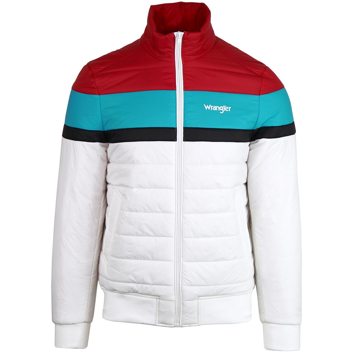 WRANGLER Retro 80s Colour Block Puffer Jacket (OW)