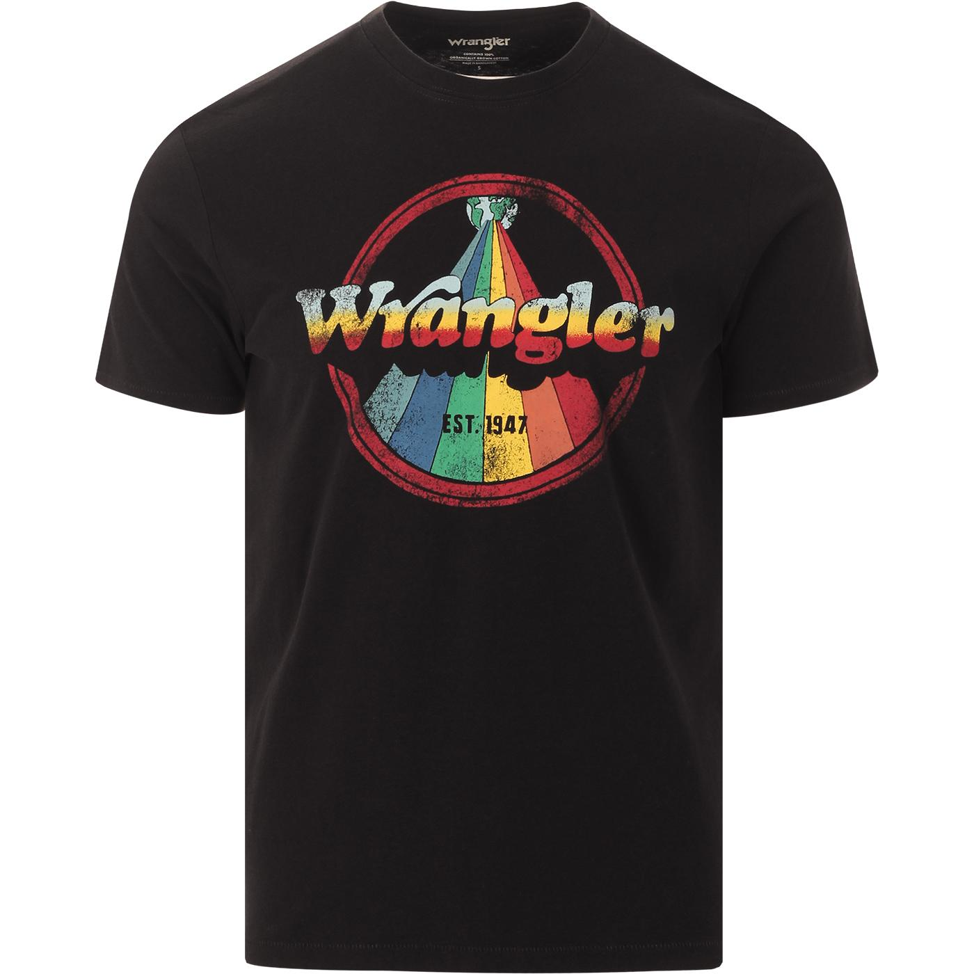 WRANGLER Retro 70s Rainbow Sports Logo Tee (FB)