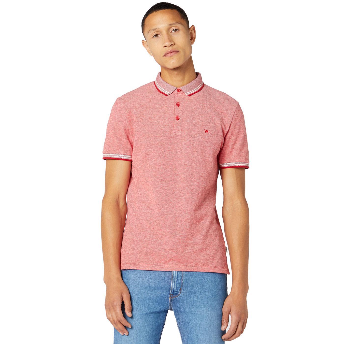 Wrangler Men's Retro Refined Pique Polo Shirt FR