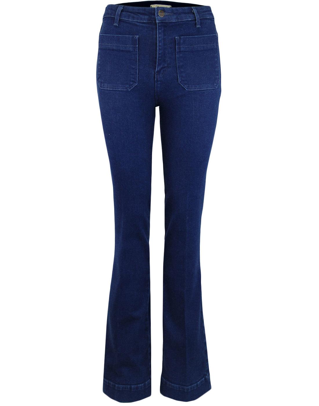 WRANGLER Retro 70s Flared Jeans with Rainbow Tag
