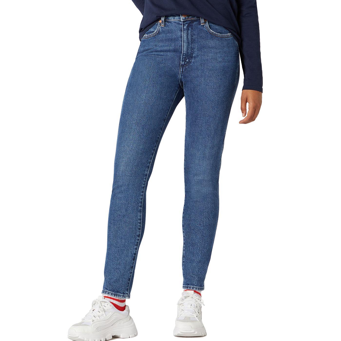 WRANGLER Women's Stonewashed Retro Skinny Jeans