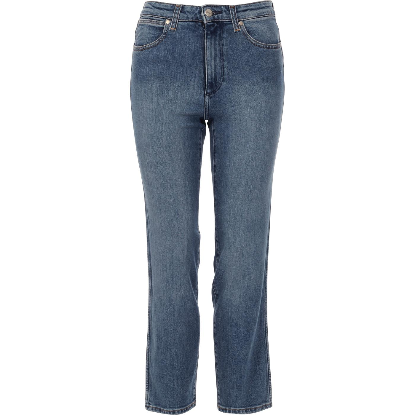 WRANGLER Retro Straight Denim Jeans (Mid Blue)