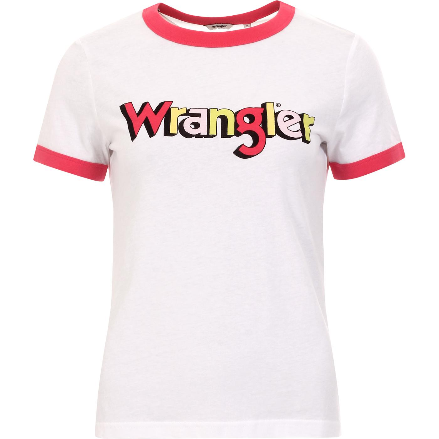Ringer WRANGLER Women's Logo Tee PARADISE PINK