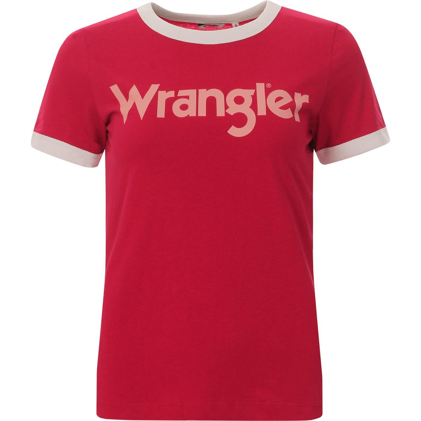 WRANGLER Women's Retro 1970s Logo Ringer Tee MR