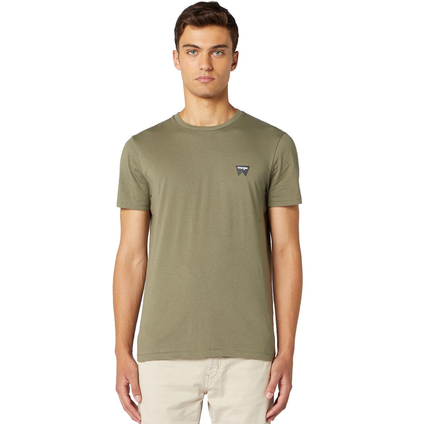WRANGLER Men's Basic Sign Off Logo T-Shirt OLIVE