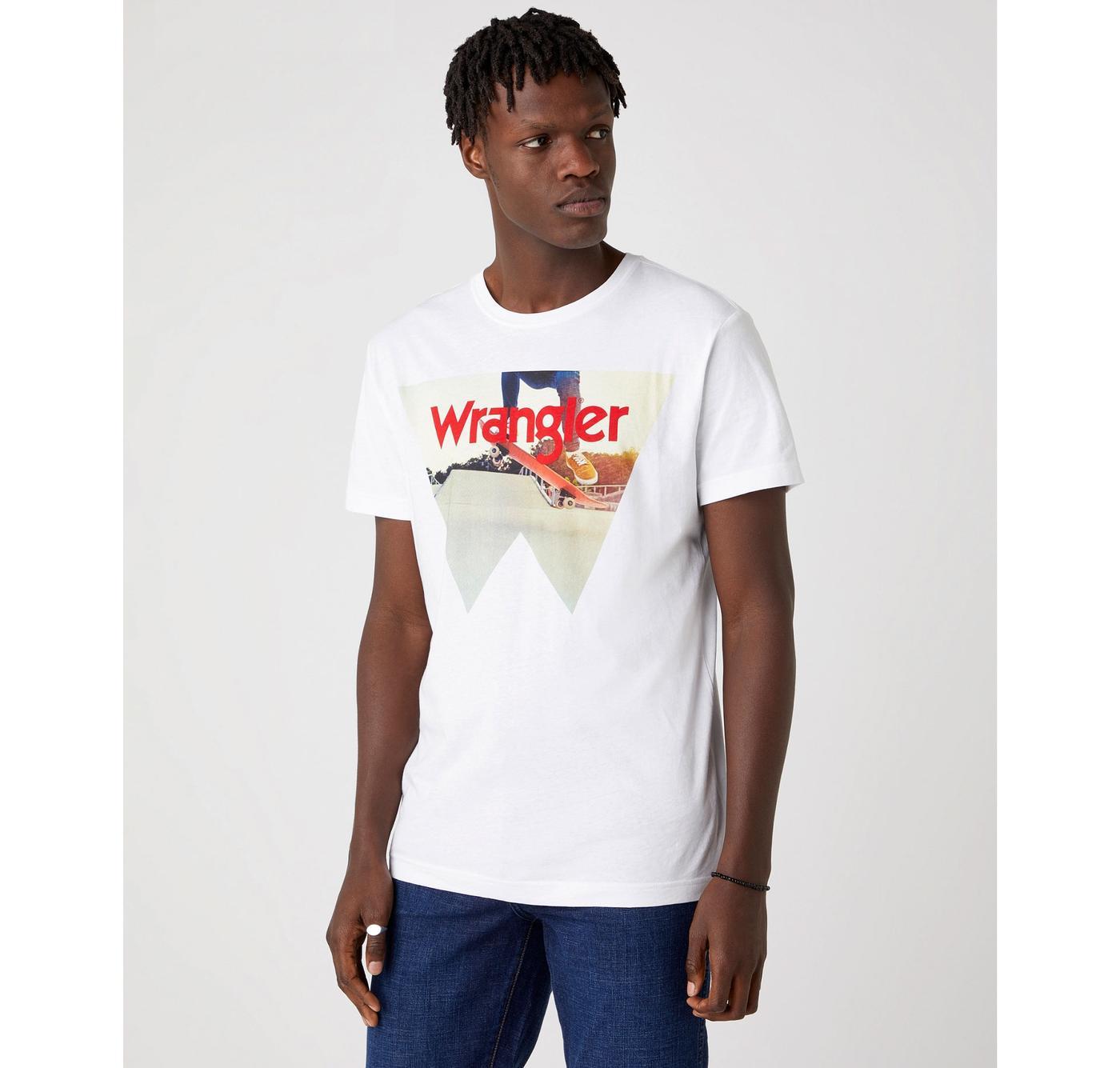 WRANGLER Retro Skatebaord Photo Logo T-shirt