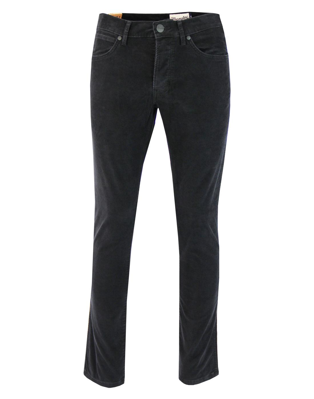 Spencer WRANGLER Black Washed Retro Mod Slim Cords