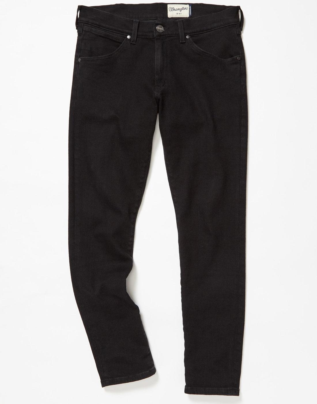 Strangler WRANGLER Mod Super Skinny Jeans BLACK